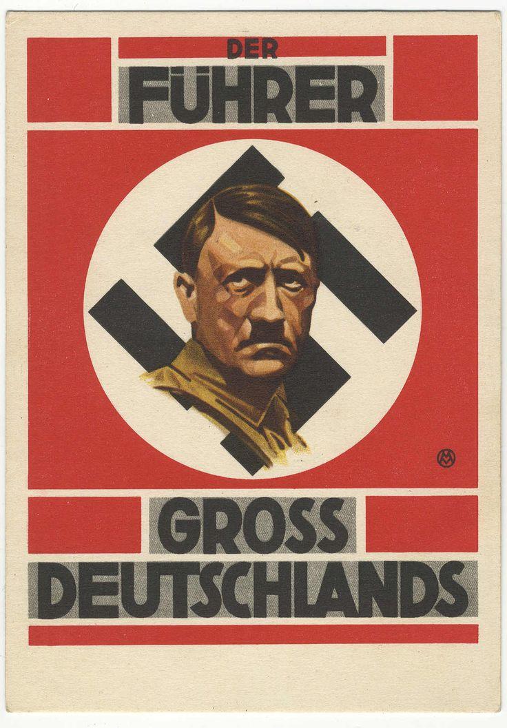 Hitler 1938 Grossdeutschlands Austria Union propaganda PC unused in excellent condition.