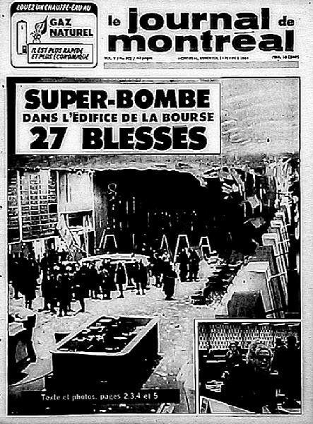 13 f vrier 1969 attentat du front de lib ration du qu bec - Front de liberation des nains de jardins ...