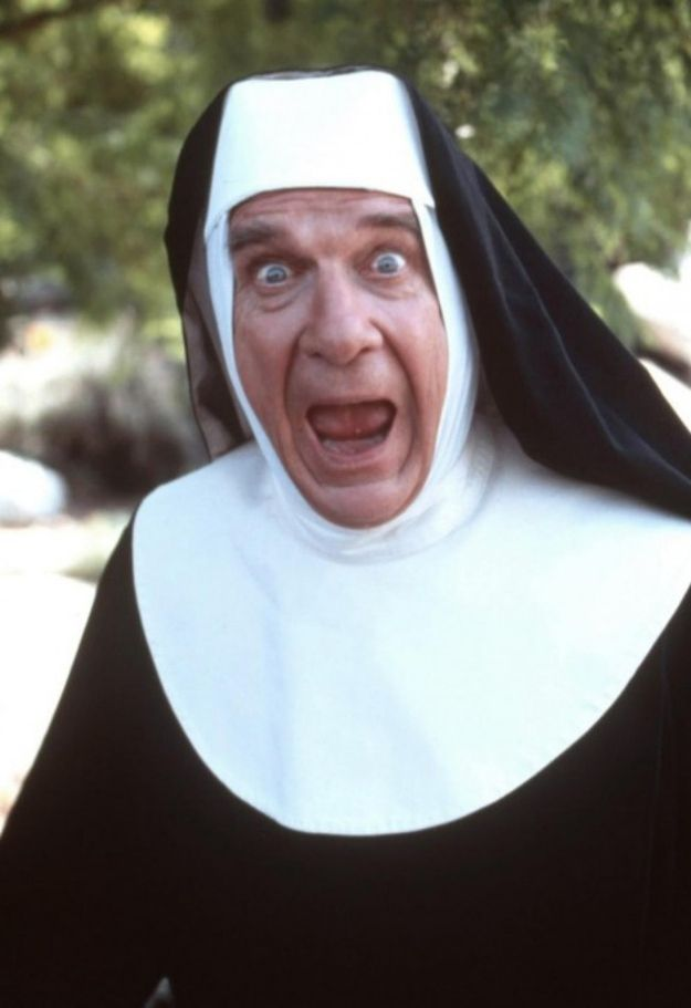 Leslie Nielsen in Spy Hard | The 31 Most Sinfully Sexy Nuns In Movie History - Buzzfeed