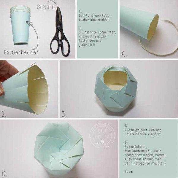 Pappbecher-Geschenkverpackung
