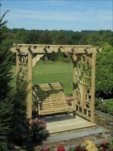 Outdoor Garden Arbors: wood & vinyl options avalable | Penn Dutch