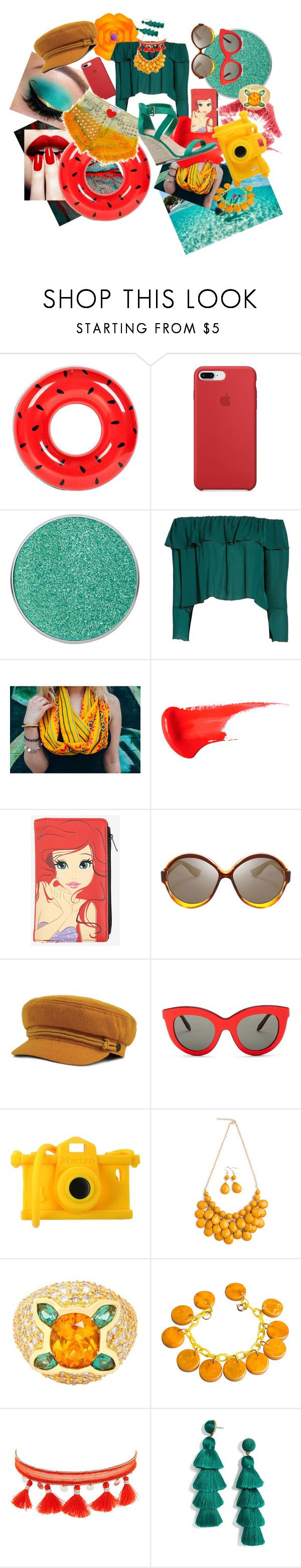 """""""Hawaii for the Holidays"""" by shenanigansxoxo ❤ liked on Polyvore featuring Sunnylife, Suva Beauty, Stone_Cold_Fox, Gem Honey, Victoria Beckham, Moschino, Chan Luu and BaubleBar"""