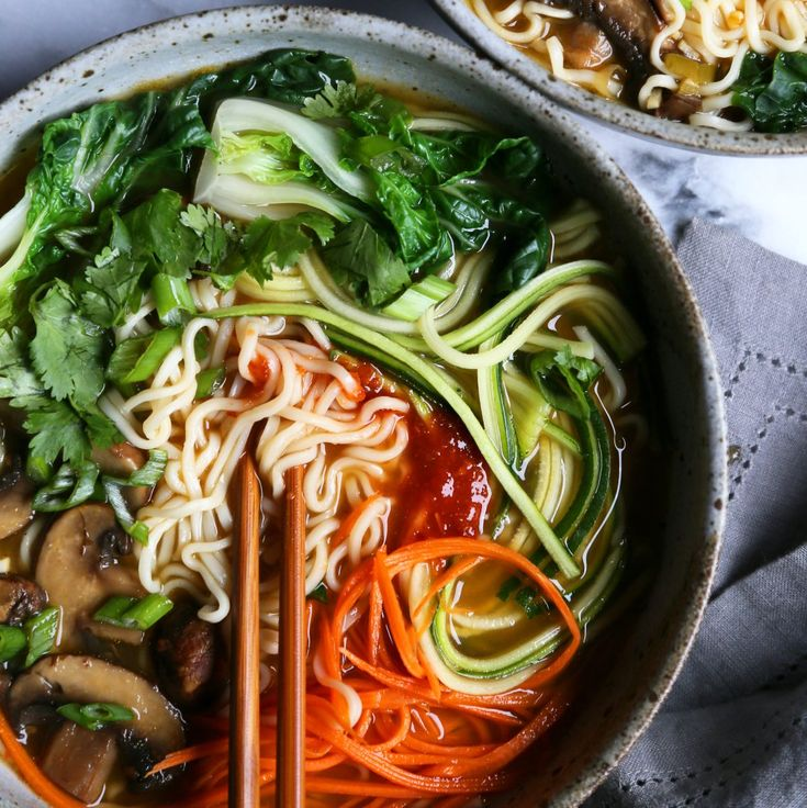 Vegetable Ramen Noodle Soup | Ramen noodle soup ...