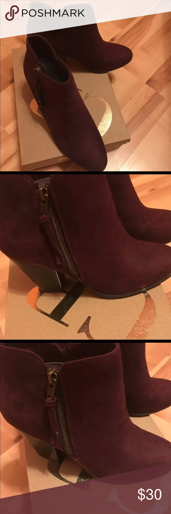 Charlotte Russe boots, never been worn! Charlotte Russe boots, never been worn , still in box! Size 7 , wine color .. I bought these thinking there were burgundy but they are more of a purple color. Offers will be considered Charlotte Russe Shoes Ankle Boots & Booties