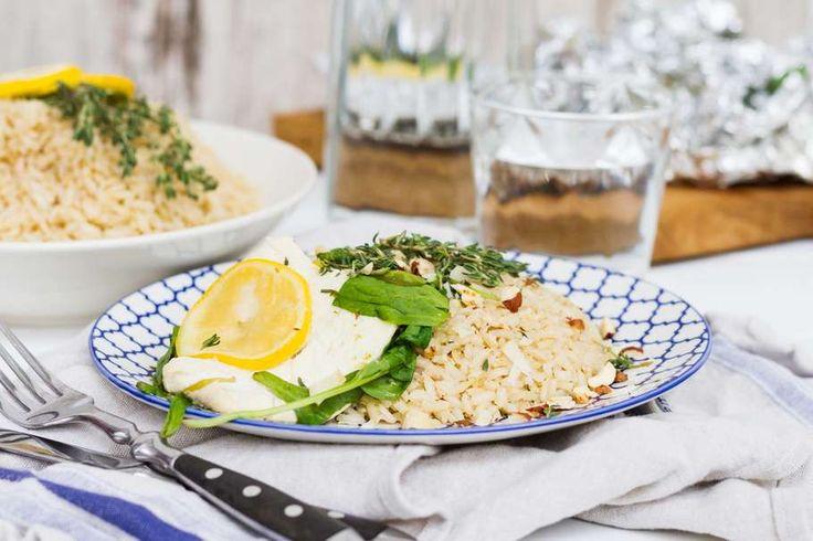 Recept voor vispakketjes voor 4 personen. Met zout, olijfolie, peper…