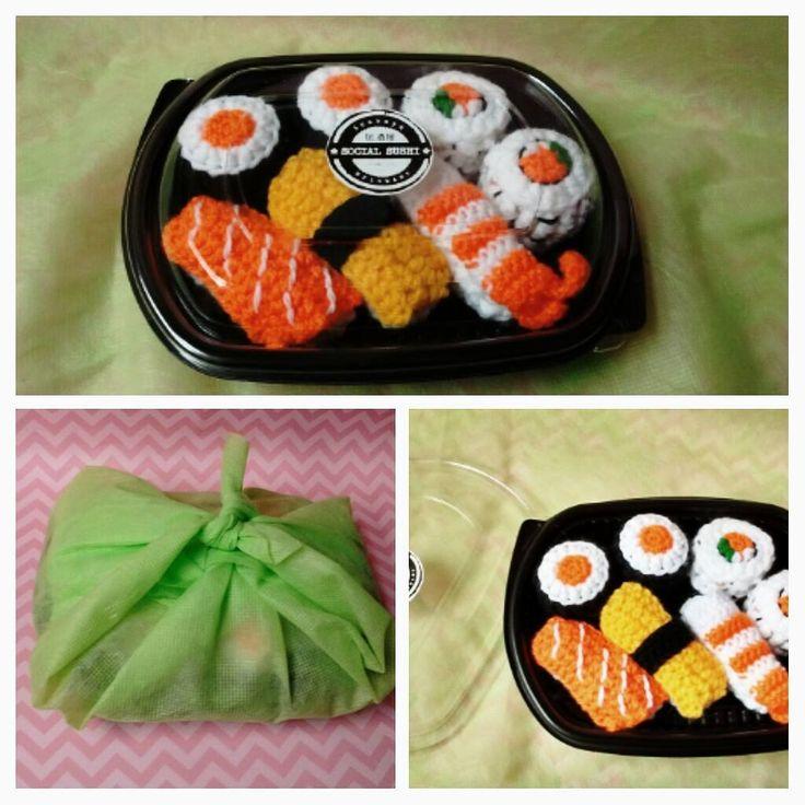 Social sushi amigurumi