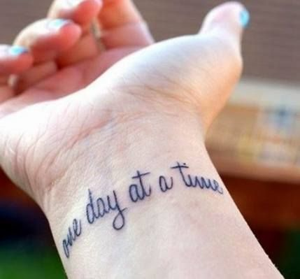 44+ Trendy Tattoo Quotes Wrist Meaningful