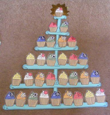 Klassikaal beloningssysteem - kindjes moeten cakejes (of uiltjes) verzamelen. Het is de bedoeling dat de schaal (of de boom) vol komt tot aan de top! Als dat lukt, is het een topklas!