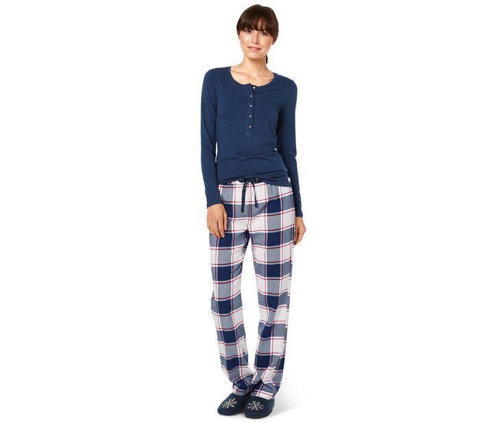 Pyžamo s flanelovými nohavicami 330875 z e-shopu Tchibo.sk