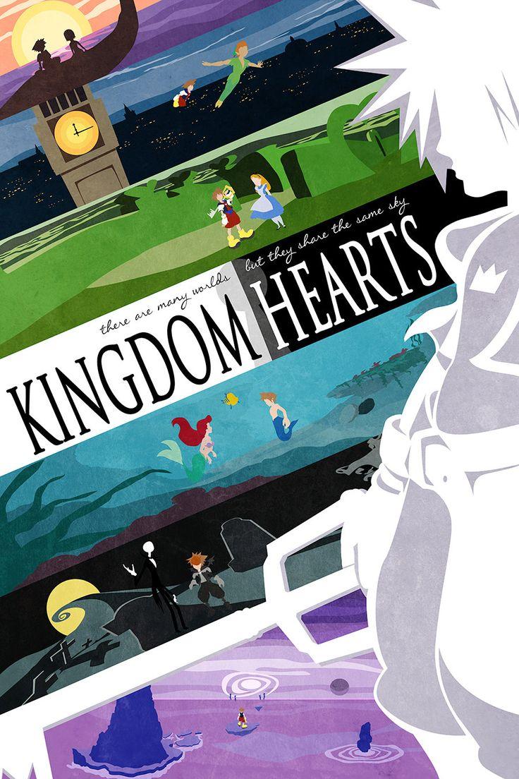 Kingdom Hearts Inspired Many Worlds Print by GeekyPrintsandMore