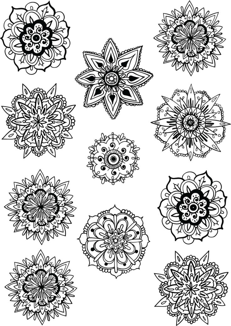 Relax with this beautiful zen colouring sheet - these would be great additions to your card designs too!
