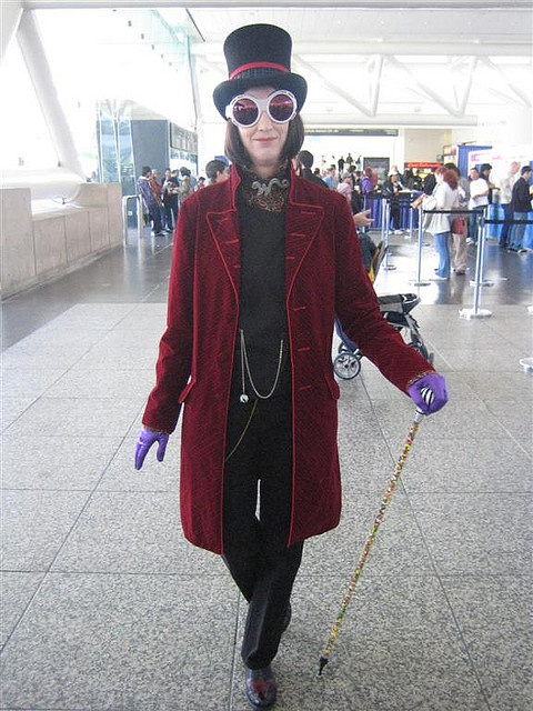 Willy Wonka Costume at WonderCon 2007 by Great White Snark, via Flickr