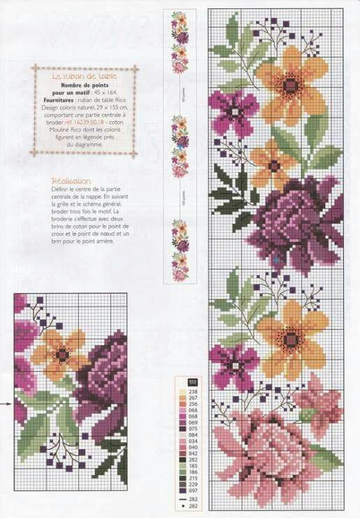 Table cloth chrysantemum pattern 1