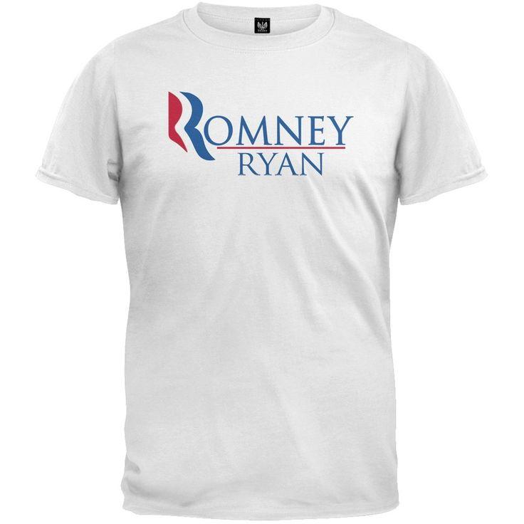 Romney and Ryan White T-Shirt