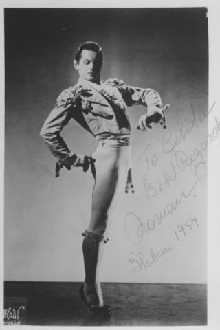 Roman Jasinski ~ A Polish ballet dancer who performed from 1933-1950 with the Ballet Russe de Monte Carlo. A premier danseur, he was recognized for his elegance and style. After retiring from performing, he and his wife Moscelyne Larkin founded a ballet school in Tulsa, Oklahoma, and in 1956, the Tulsa Ballet.
