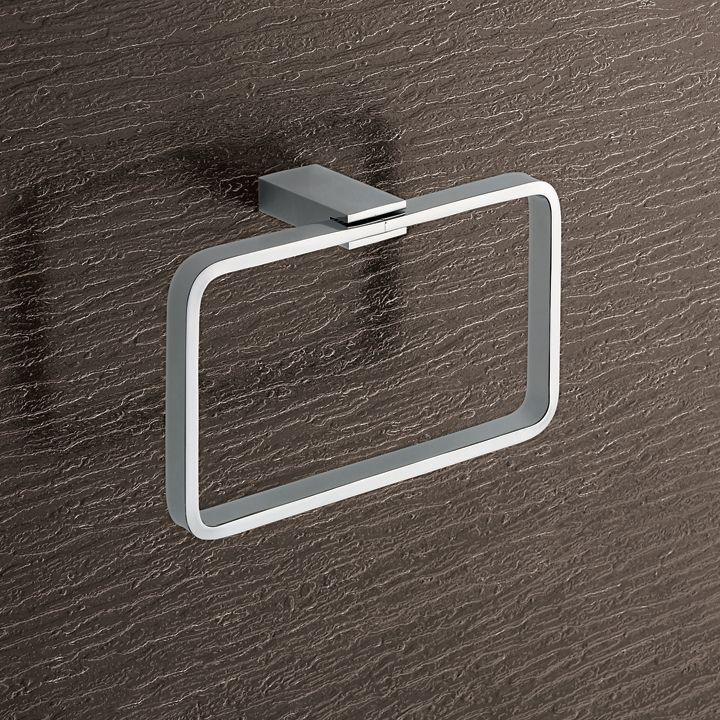 towel ring gedy square polished chrome towel ring towel hangerbath