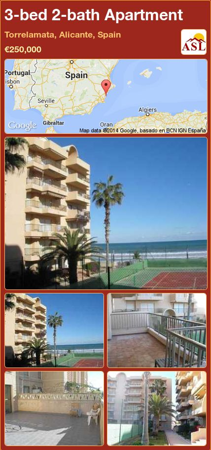 3-bed 2-bath Apartment in Torrelamata, Alicante, Spain ►€250,000 #PropertyForSaleInSpain