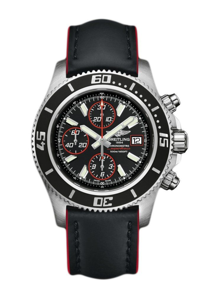 BREITLING Superocean Chronograph Automatic Watch- BLACK and RED