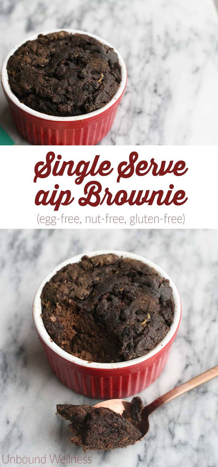 Single Serve AIP Brownie (Egg-free, nut-free, gluten-free)