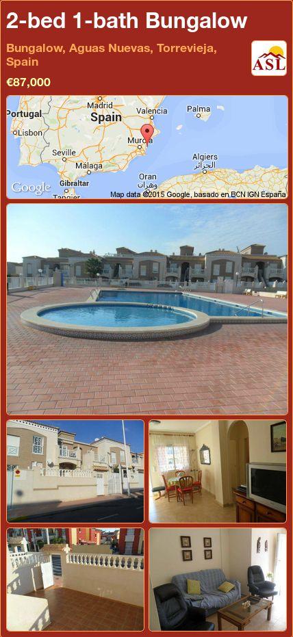 2-bed 1-bath Bungalow in Bungalow, Aguas Nuevas, Torrevieja, Spain ►€87,000 #PropertyForSaleInSpain