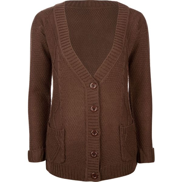 FULL TILT Fireside Womens Cardigan ($15) ❤ liked on Polyvore featuring tops, cardigans, sweaters, jackets, brown, button front top, cardigan top, full tilt, button front cardigan and slouchy tops