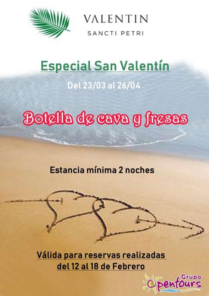 Hotel Valentín Sancti Petri **** (Chiclana de la Frontera, Cádiz) ---- Especial ENAMORADOS 2018 ---- Reservas realizadas del 12 al 18 de Febrero, para estancias del 23 de Marzo al 26 de Abril ---- Resto condiciones de esta oferta en www.opentours.es ---- Información y Reservas en tu - Agencia de Viajes Minorista - ---- #hotelvalentinsanctipetri #valentinsanctipetri #chiclana #cadiz #andalucia #verano2018 #enamorados #enamorados2018  #escapadas #hoteles #vacaciones #estancias #ofertas