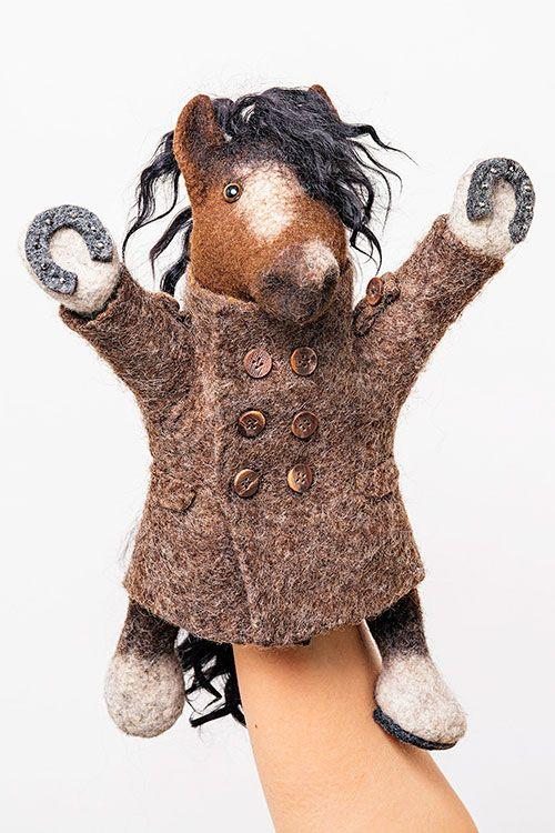 Видео курс «Развивающая игрушка-бибабо своими руками: Конь в Пальто»