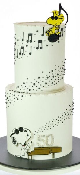Musical Snoopy Cake