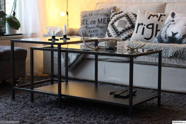 vittsjö soffbord,ikea,svart,grått,vitt,beige,h&m home,ellos matta,ljusslinga