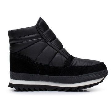 US Size 6.5-10 Hook & Loop Artificial Wool Lining Warm Snow Boots For Men - US$36.33