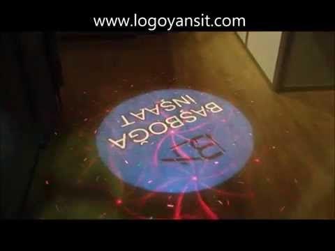 Logo Yansıt dis ortam yere logo ve lazer yansitici donen logo - YouTube