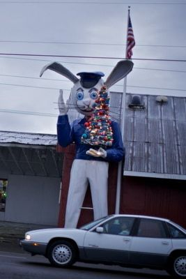 Harvey is a giant rabbit and he has stood along Tualatin Valley Highway since 1974