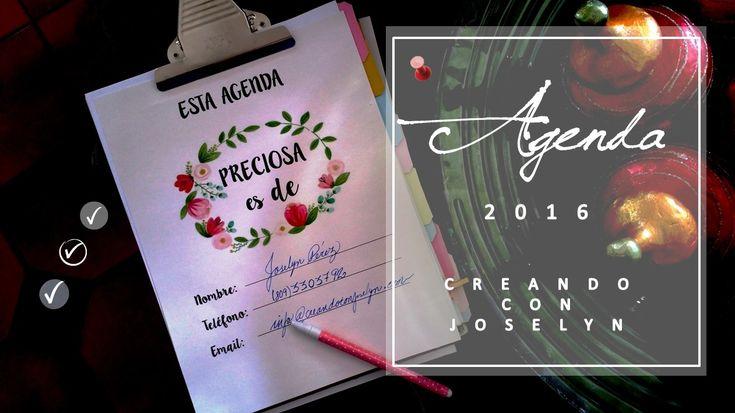 Agenda 2016 de Creando con Joselyn