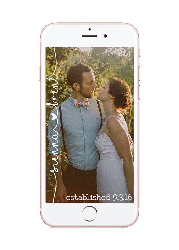 Custom Snapchat Geofilter Wedding by HaleysDesignsShop on Etsy