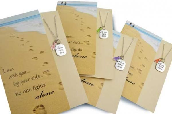 No One Fights Alone® Necklace and Card Gift Set