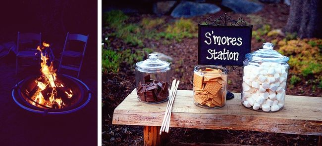s'mores bar by Emily Heizer Photography Lake Tahoe Wedding, will Travel
