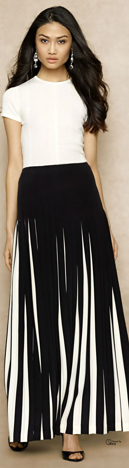 33 Best Images About Black Or White Maxi Skirts On Pinterest