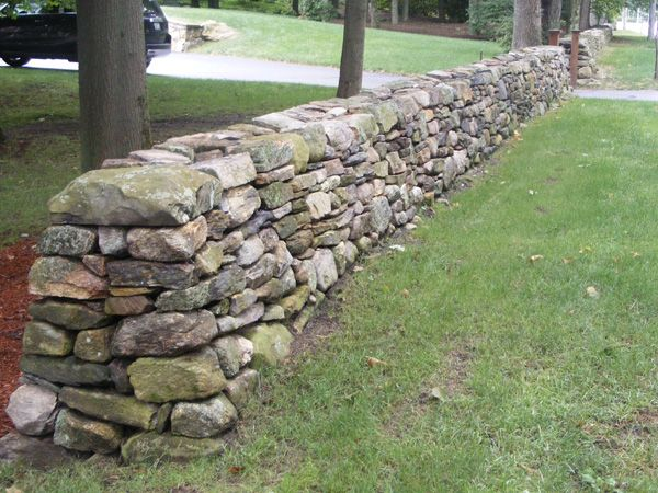 Best stone fence ideas on pinterest gabion