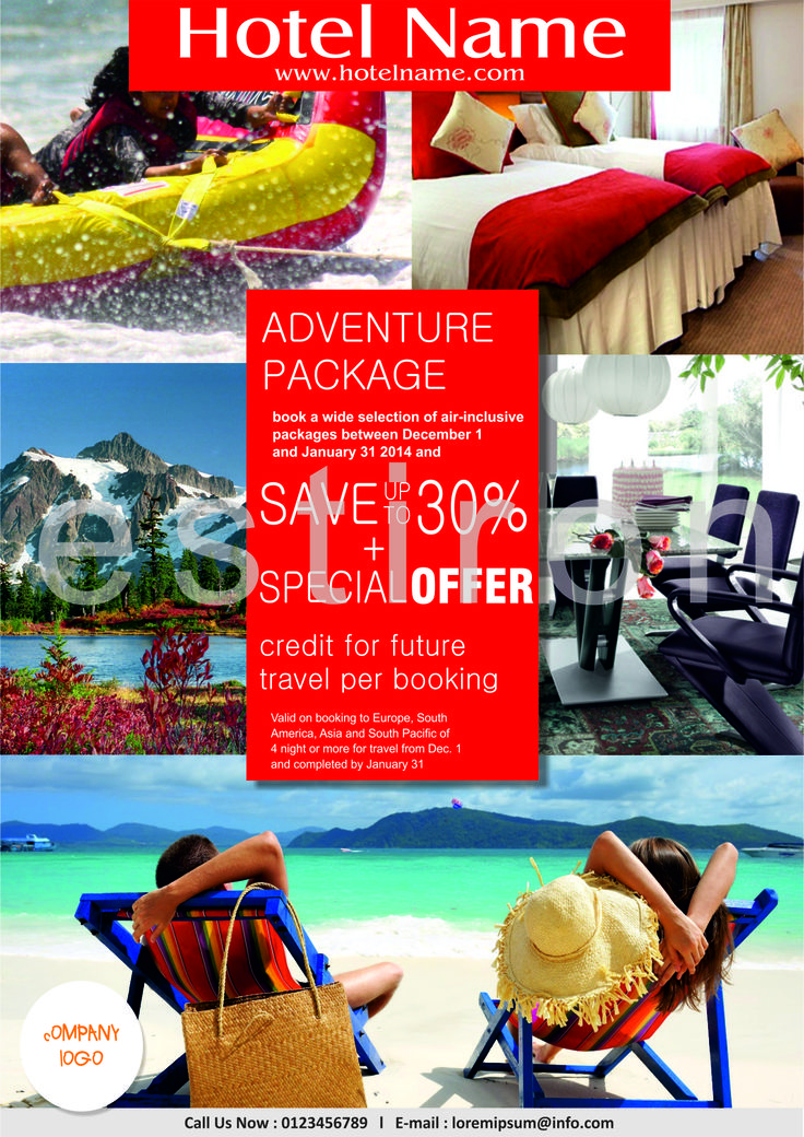 Flyer for tourism company....