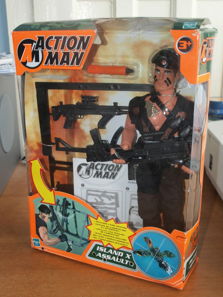 Action Man By Hasbro Island X Assault With Original Box