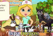 Juego de Linda Granja de hospital   JUEGOS GRATIS: Una chica se a graduado de una Doctora de Animales, y ahora tendrá la oportunidad de dar a conocer sus conocimientos adquirido, ayudarla a curar a los animales que viven en la granja, primero los tienes que llevar al establo de revisión y luego de curacion