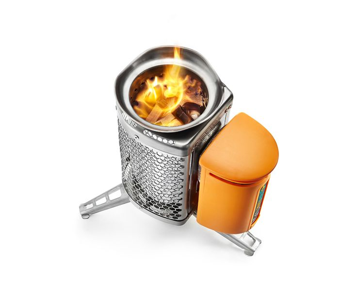 BioLite CampStove - use as wood burning camping stove, while it converts heat into electricity to recharge your phones, lights and other gadgets.