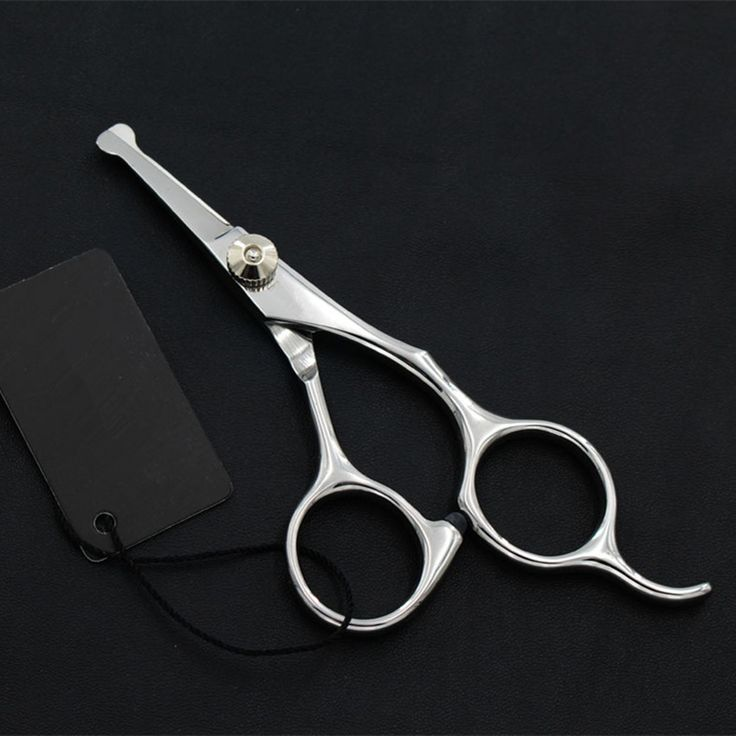 professional safe Round head Japan 4.5 inch Pet hair scissors dog grooming scissor Cutting shears Barber Hairdressing Scissors