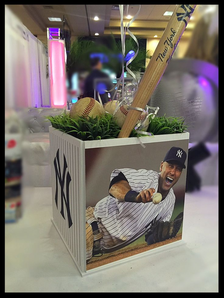 49 best kylebaseball centerpieces images on pinterest baseball bar mitzvah sports centerpiece any sport teams by thepartyplaceli junglespirit