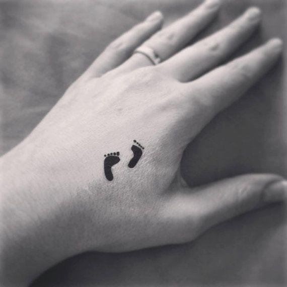 Temporary Tattoo little feet pair Tattoo Art Ring by misssfaith