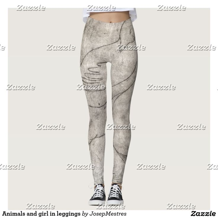 Animals and girl in leggings