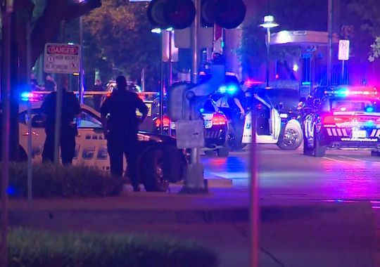 The area around Dallas police headquarters was sealed