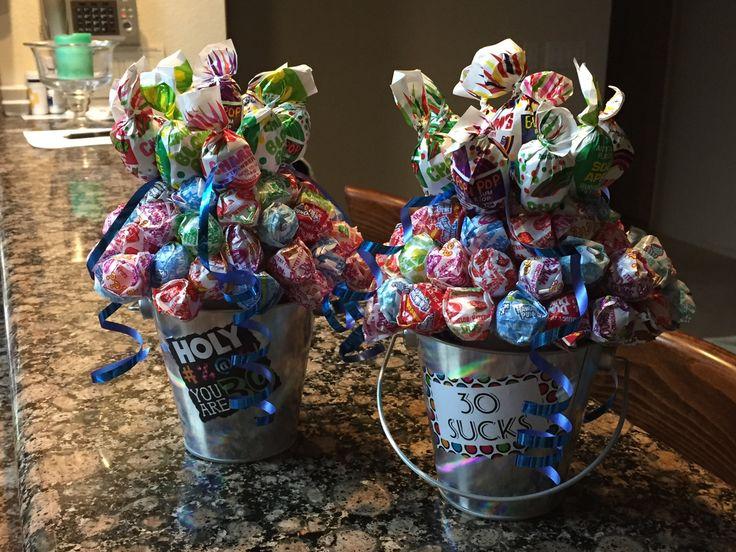 Different twist candy bouquet dum with blow pops
