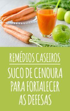 O suco de cenoura é um ótimo remédio caseiro para fortalecer o sistema imunológico e melhorar as defesas do organismo, protegendo contra gripes e resfriados dos dias mais frios. #cenoura #sistema #imunológico