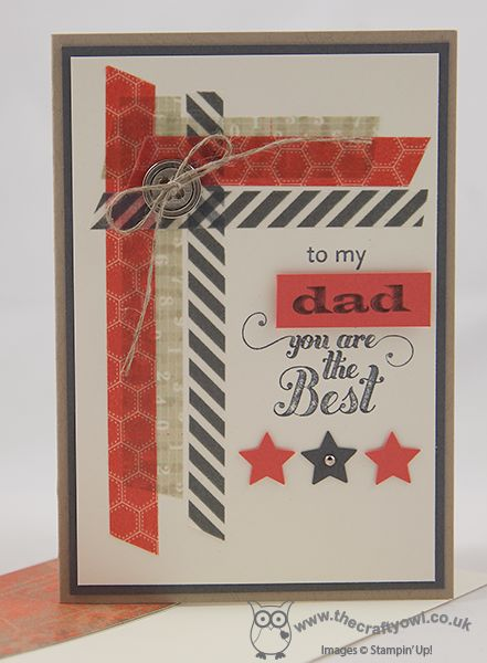 Stampin up masculine cards Feel Goods Dad - You Are The Best!